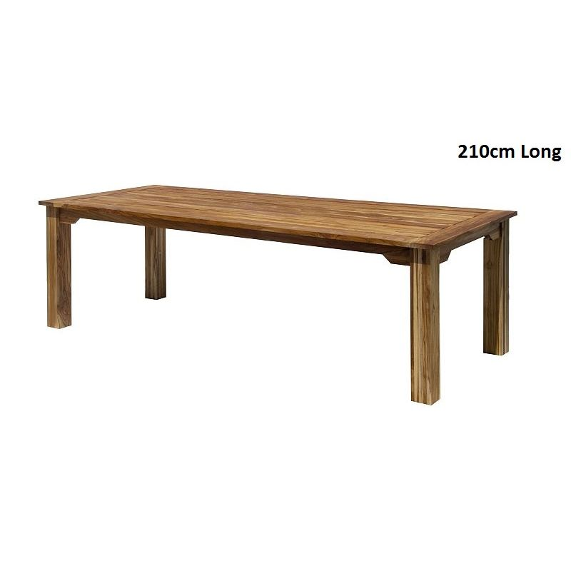 Rustic farmhouse teak wooden dining table buy for Table exterieur 1m