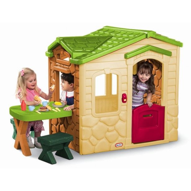 Little Tikes Picnic On The Patio Playhouse Natural Buy
