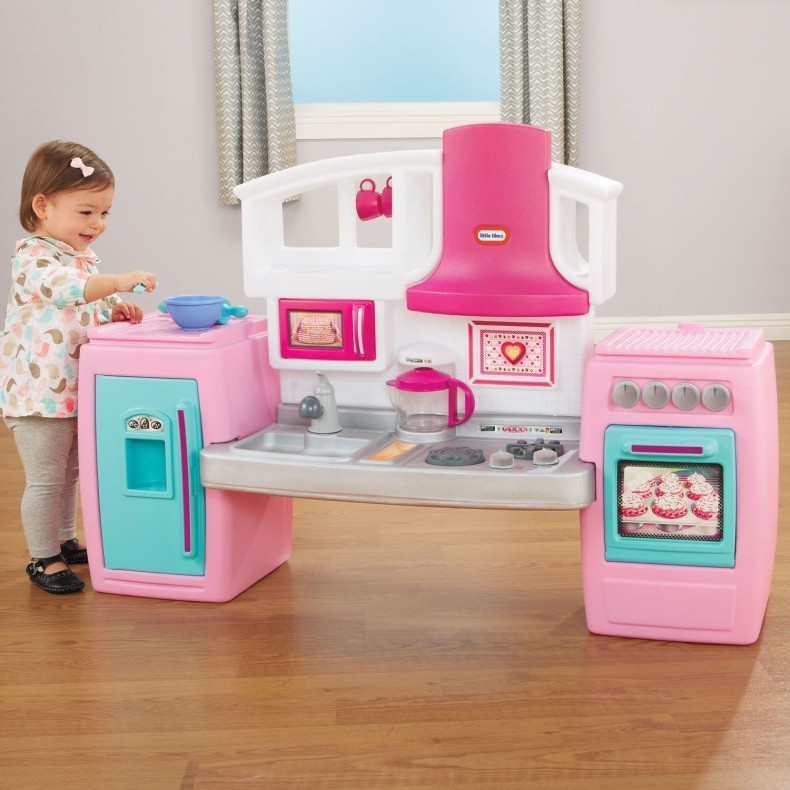 Little Tikes Bake 'n Grow Kids Kitchen In Pink