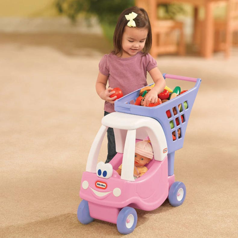 Little Tikes Cozy Coupe Kid S Shopping Cart Pink Buy