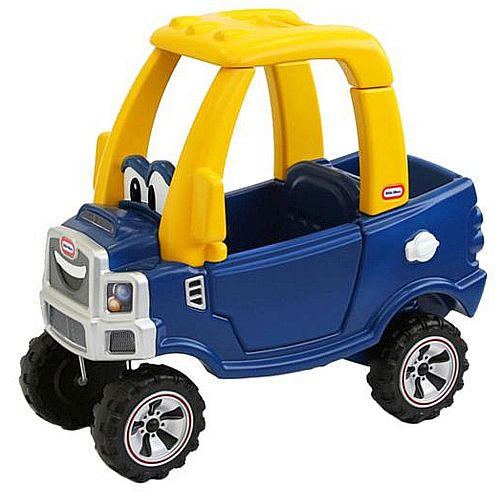 Little tikes cozy truck classic ride on car blue buy for Little tikes motorized vehicles