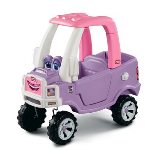 Little tikes princess cozy truck ride on car pink buy for Little tikes motorized vehicles
