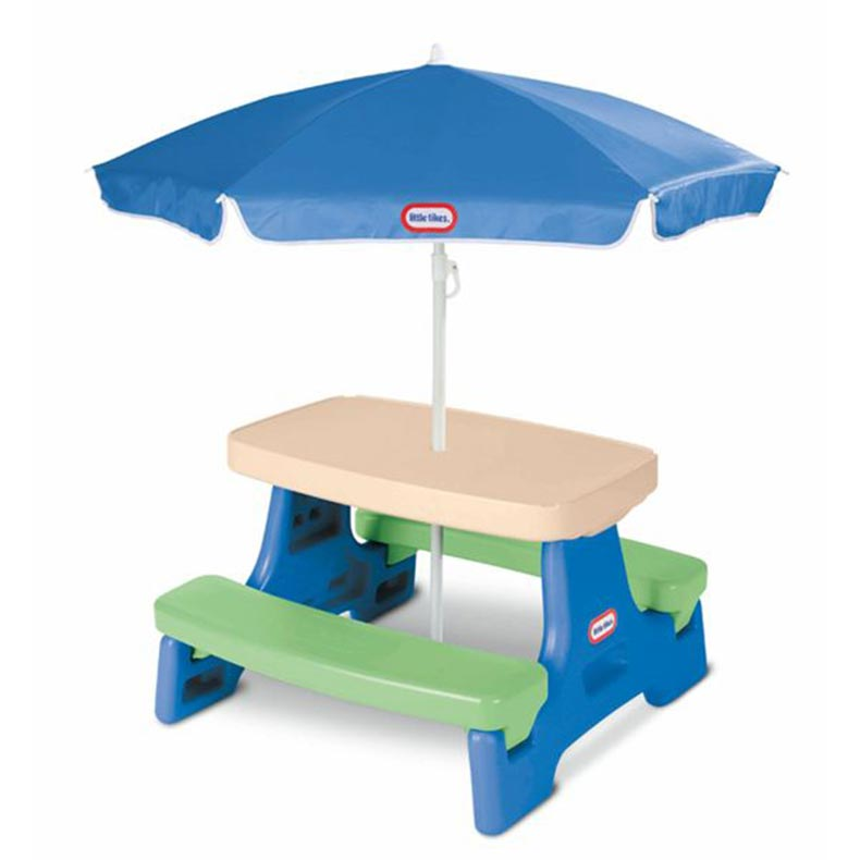 Little Tikes Easy Store Jr Kids Table With Umbrella Buy