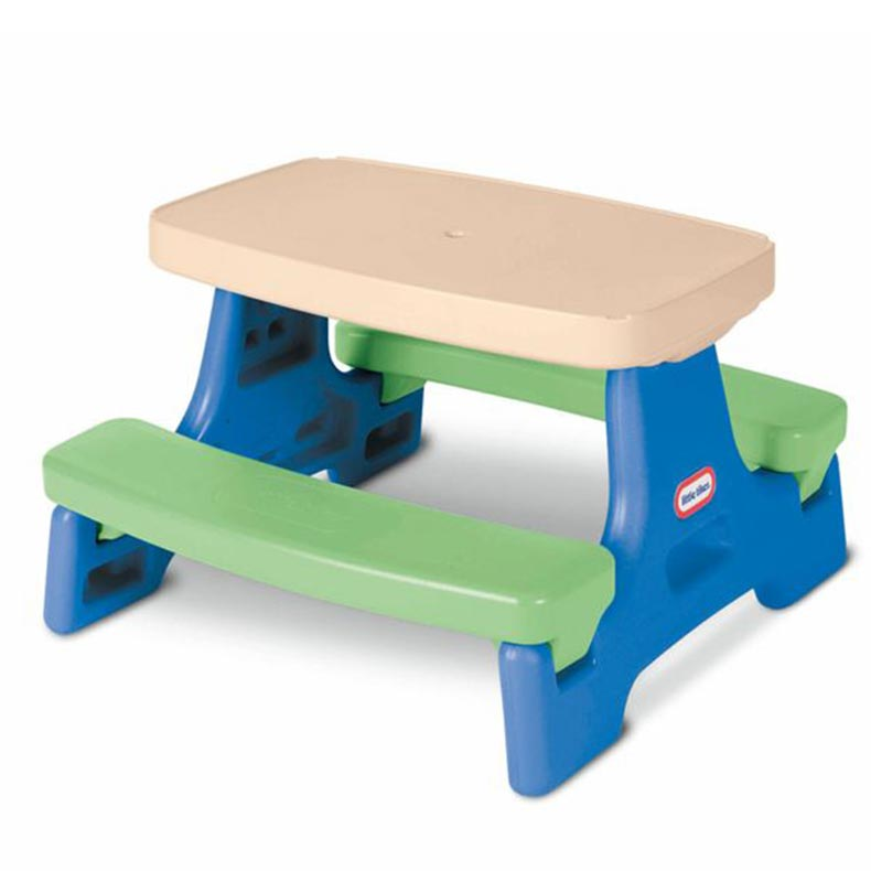 Little tikes easy store jr kids table with umbrella buy - Children s picnic table with umbrella ...