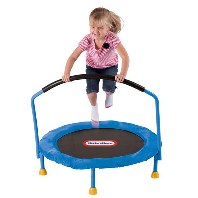 Little Tikes Kid's Handle Bar Mini Trampoline 90cm
