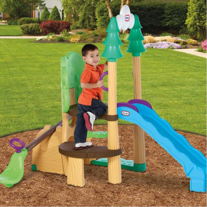 Little tikes 1 2 3 climber see saw slide playset buy for Little tikes outdoor playset