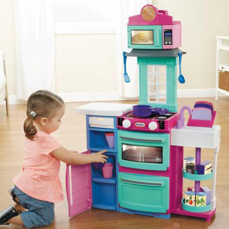 Little Tikes Cook N Store Kids Play Kitchen Pink Buy