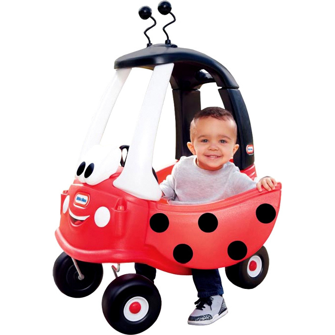 Little tikes ladybird cozy coupe ride on car in red buy for Little tikes motorized vehicles