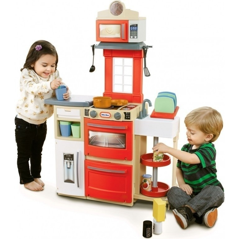little tikes cook n store kitchen in red and white buy. Black Bedroom Furniture Sets. Home Design Ideas