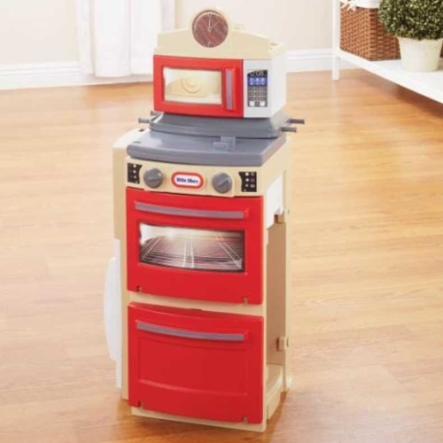 Little Tikes Cook N Store Kitchen In Red And White