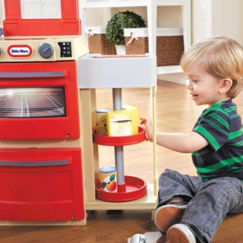 play kitchen food storage tikes cook n kitchen in and white buy 4283