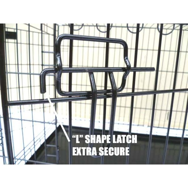 3 Door Collapsible Dog Cage Travel Crate Black 36in Buy