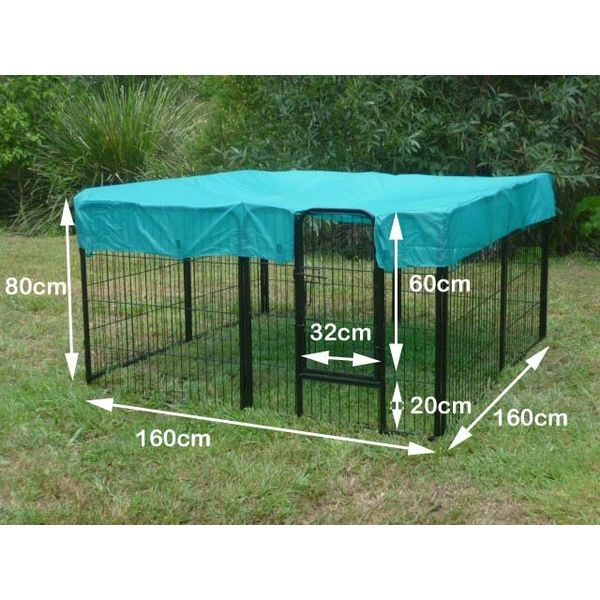 h m s Remaining  sc 1 st  MyDeal & Pet Outdoor Run 8 Panel Playpen w/ Roof Cover 80cm | Buy Pet ...