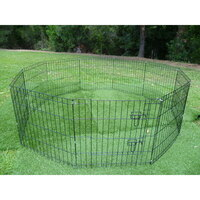 Pet Puppy Metal Enclosure Playpen 10 Panel 24in