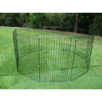 Pet Puppy Metal Enclosure Playpen 10 Panel 36in