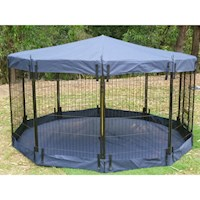 Pet Playpen Waterproof Cover ONLY in Navy 80cm