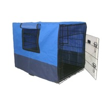 3 Door Collapsible Dog Crate w/ Canvas Cover 42in