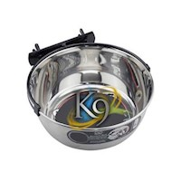 K9 Kennel Snap 'N' Lock Stainless Steel Dog Bowl