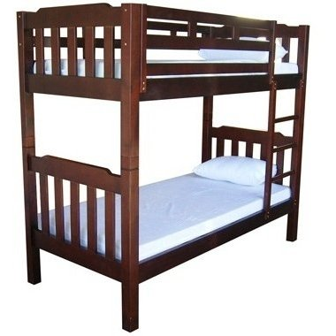 Kids Single Size Timber Bunk Bed In Chocolate Buy Bunk Beds 180483