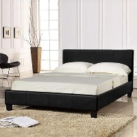 PU Leather Upholstered Bed Frame 5 Sizes 3 Colours