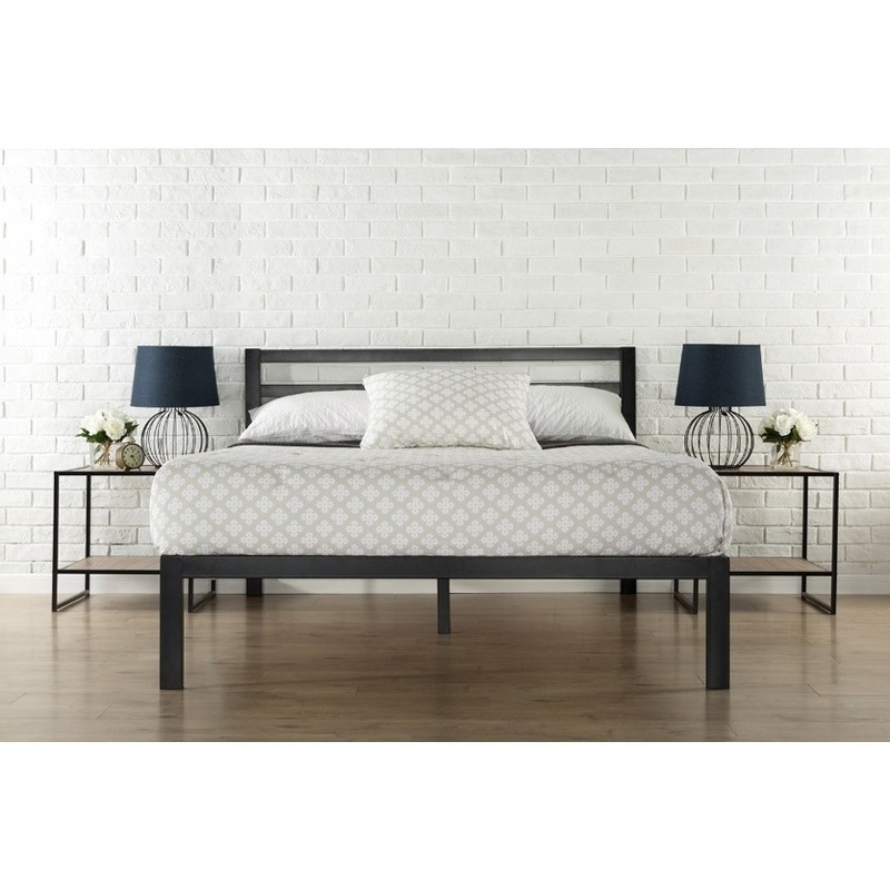 Leeds Double Size Metal Bed Frame in Black | Buy Double Bed Frame ...