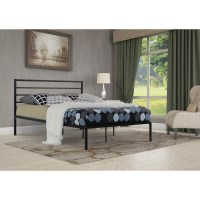 Leeds Double Size Metal Bed Frame In Black
