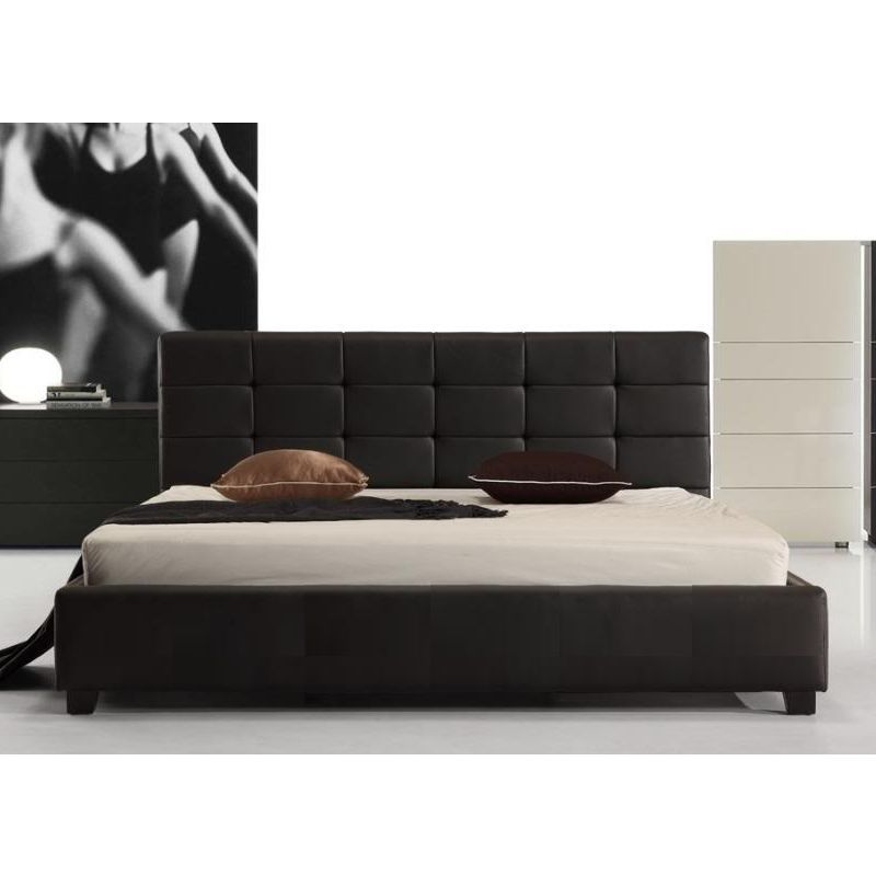 Fife King Pu Leather Padded Bed Frame In Black Buy King