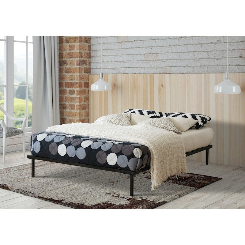 Baronet Double Bed Frame Base Ensemble Metal Black | Buy Double Size ...