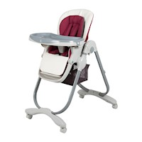 Adjustable Baby High Chair w/ Double Tray & Basket