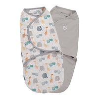 2pc Small Size Cotton Baby Swaddle Blanket - Jungle