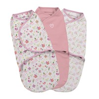 3pc Small Cotton Baby Swaddle Blanket Garden Print