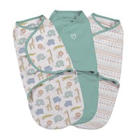 3pc Small Size Cotton Baby Swaddle Blanket - Safari