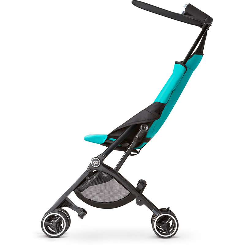 Pockit Compact Folding Pram Stroller Aqua Amp Black Buy