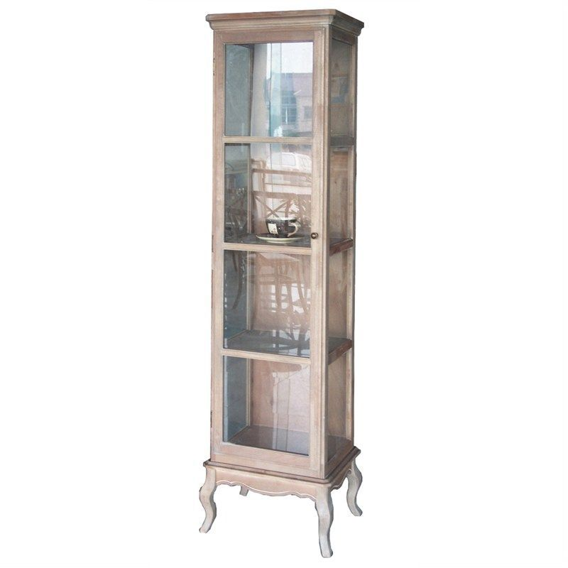 Cherilyn Whitewash Glass Wood Display Cabinet Case Buy