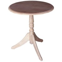 Small Whitewash Beech Wood Round Cottage Table