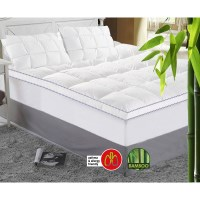 King Size Bamboo Mattress Topper - 1000GSM