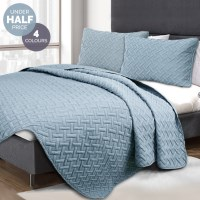 3 Piece Ramesses Embossed Comforter Set - 4 Colours