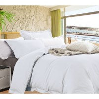 King Egyptian Cotton Quilt Cover Set in White