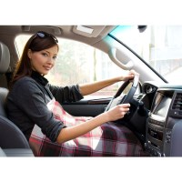 Electric Fleece Snuggle Blanket for Cars Red Check