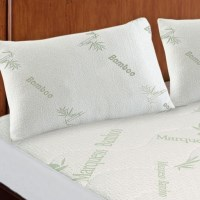 Hypoallergenic Bamboo Pillow Protectors Twin Pack