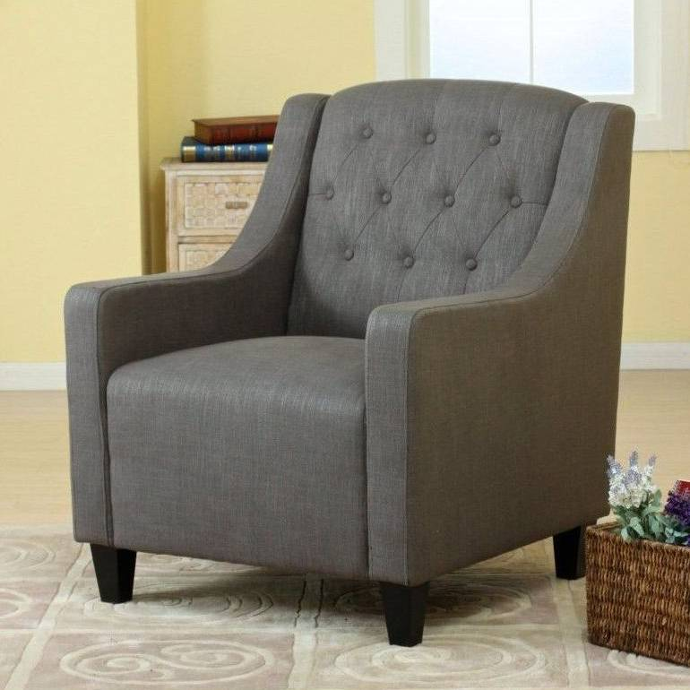 Vintage Fabric Club Armchair Amp Ottoman In Grey Buy Chair