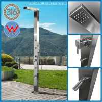 Windsor Stainless Steel Outdoor Shower with Massage