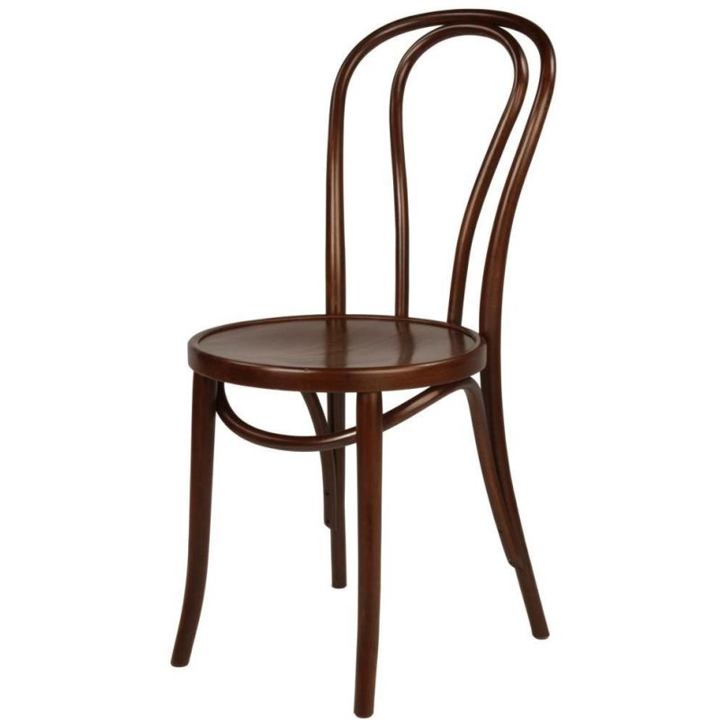 Vintage replica thonet bentwood dining chair brown buy for Thonet replica chair