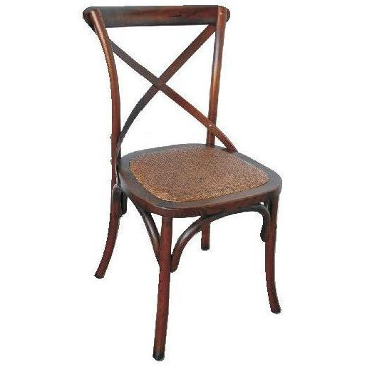 vintage provincial cross back dining chair in brown buy dining chairs 180797. Black Bedroom Furniture Sets. Home Design Ideas