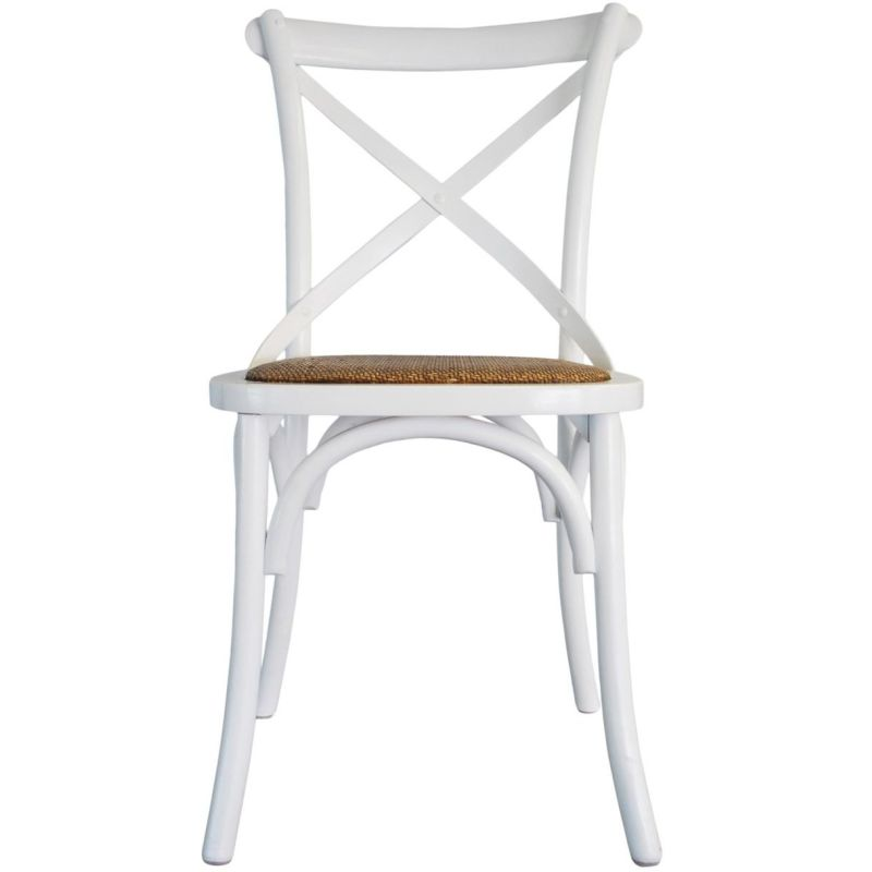 vintage provincial cross back dining chair in white buy dining chairs 180798. Black Bedroom Furniture Sets. Home Design Ideas