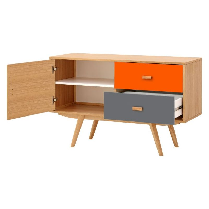 Elanor Sideboard Buffet W 1 Door Amp 2 Drawers Orange Buy