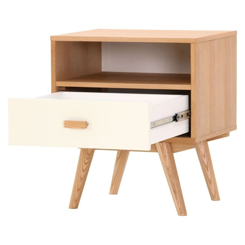 Elanor Ash Wood Night Stand Bedside Table W Drawer Buy