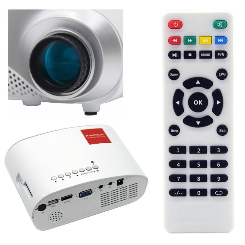 Portable multimedia led mini projector 480w white buy for Mini projector best buy
