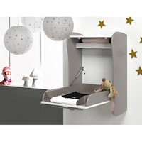 Wall Mounted Baby Changing Table Drop Down Cream