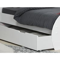 Altea Kids Single Trundle Bed Drawer in Satin White